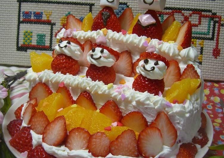 Japanese Dora Cake Recipe: For Hinamatsuri (Doll's Festival): A Doll Tier Cake