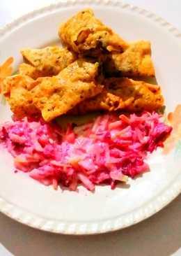 #potato#vaggies#stuff#papad roll with salad