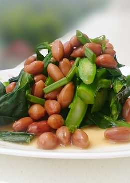 Chinese Broccoli with Canned Braised Peanut