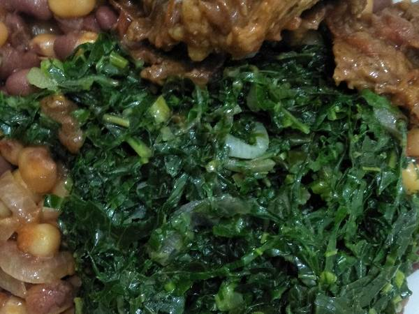 Vegetables githeri with meat