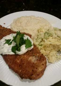 Brad's pretzel crusted cod with cilantro lime aioli