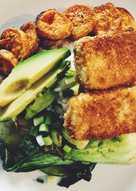 Coconut Crusted Tofu & Veggies on Rice