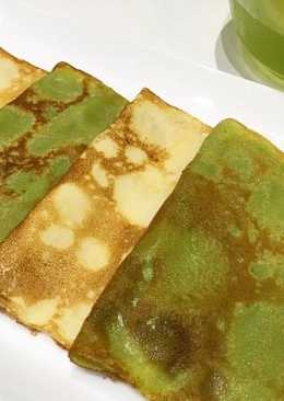 Matcha Green Tea Crêpes