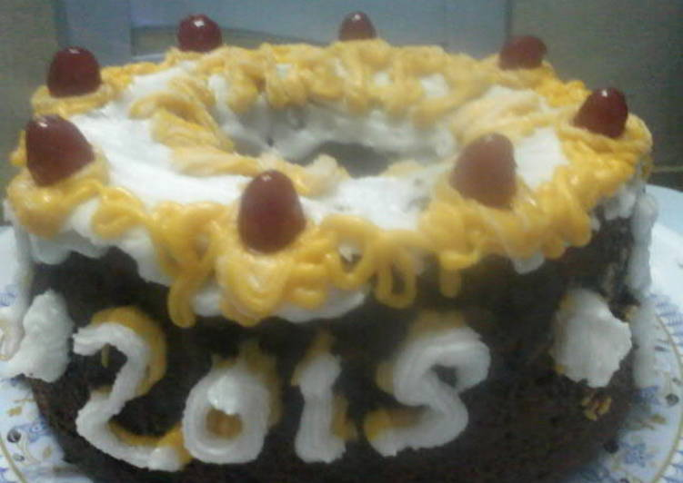 Dry fruit new year cake