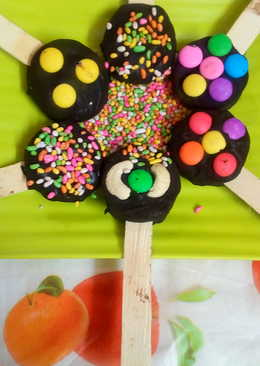 Oreo buiscuit chocolate lollipops