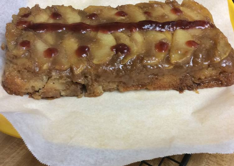 Upside down Caramel Apple Cake