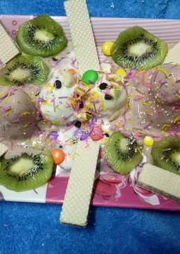 Kiwi choco icecream