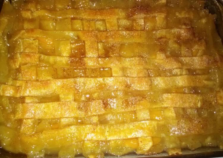 Easy Peach Cobbler Recipe By Chrystal Cookpad
