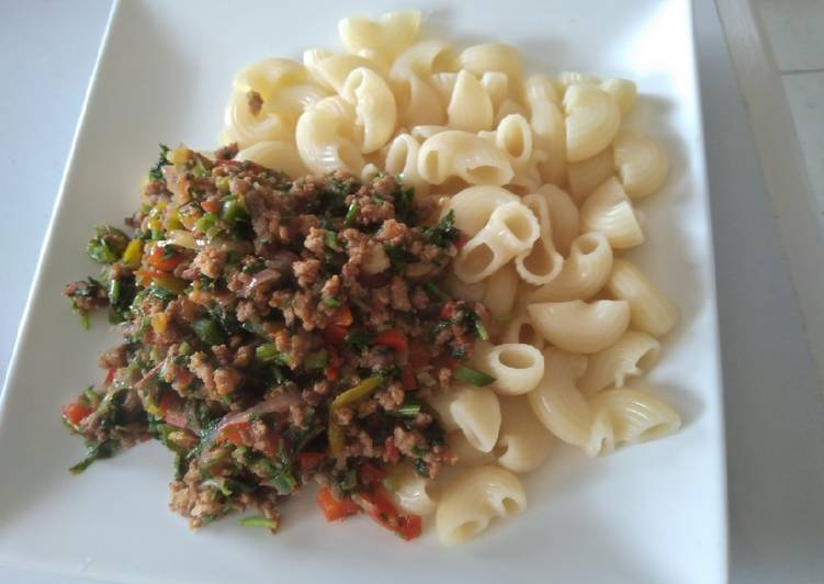 minced meat with maccaroni recipe by shannon cookpad