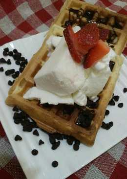 Eggless millet Waffle