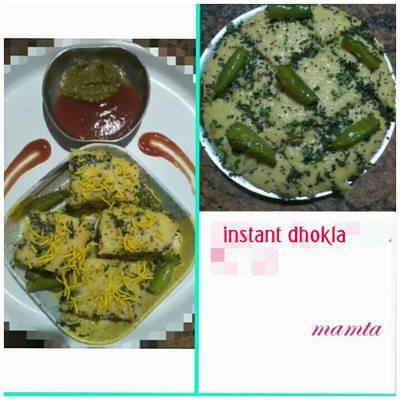 Instant khamman dhokla (in 20min)