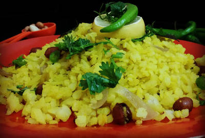 Pohe (Indian Style Flattened Rice Recipe)A Popular Breakfast In Western India