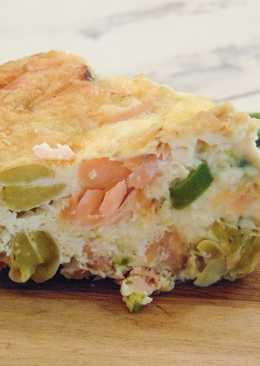 Crustless Salmon Quiche for Picnics