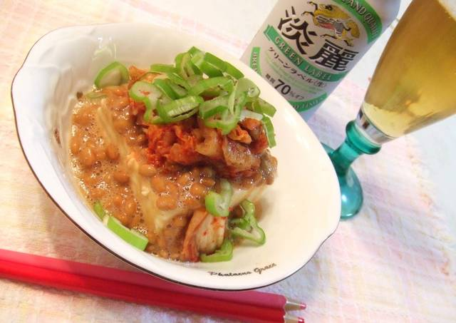 kimchi natto tofu for dieters 2 yakko tofu with toppings is a standby ...