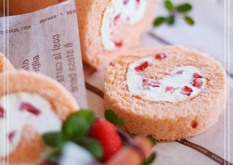 Strawberry Roll Cake Japanese Recipe: Strawberry Tiramisu Roll Cake Recipe By Cookpad.japan