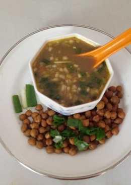 Chana & green onion soup