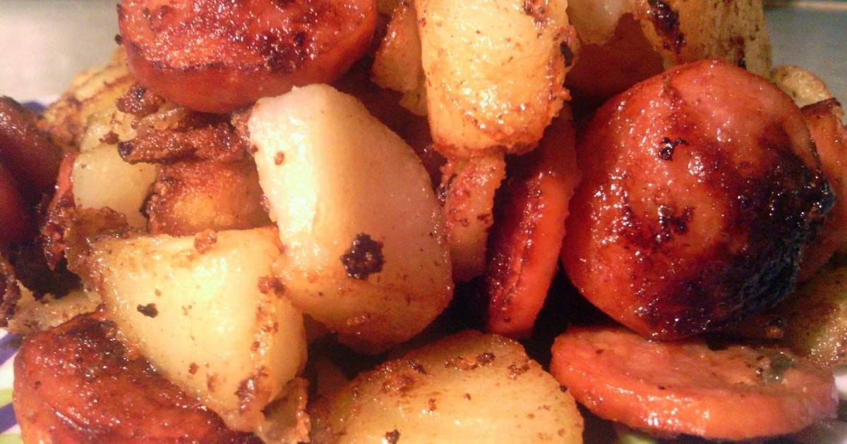 potatoe and sausage Recipe by Brenda M. Castillo