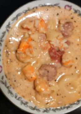 Sausage, Shrimp and Tortellini