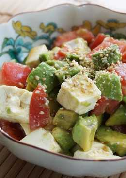 Tofu, Avocado and Tomato Salad