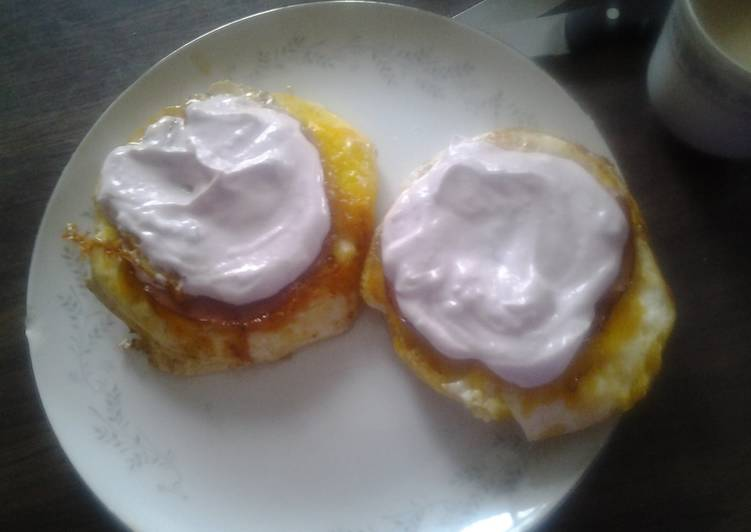 Fancy and simple eggs in a basket Recipe by Kellie - Cookpad