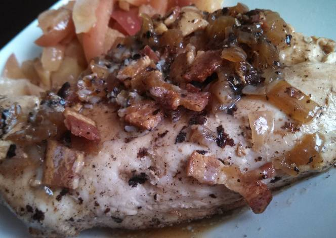 Chicken with Cider & Bacon Sauce Recipe by HardDog1110 - Cookpad
