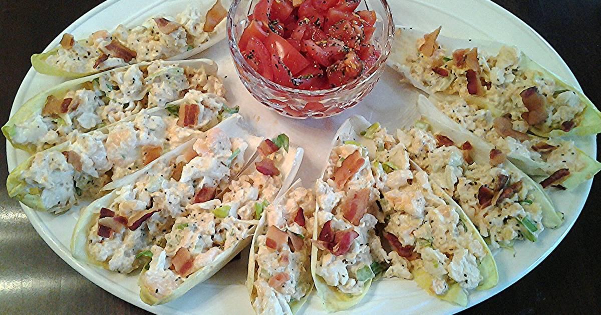 Crab and Shrimp Salad in Belgium Endive Leaves Recipe by ...