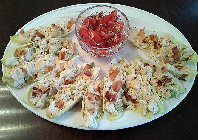 Crab and Shrimp Salad in Belgium Endive Leaves Recipe by fenway ...