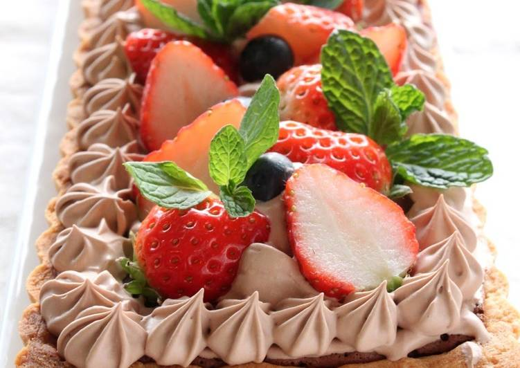 For Valentine S Day Chocolate Tart Recipe By Cookpad Japan Cookpad