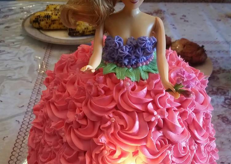 Barbie Birthday Cake Recipe By Reny 🍰🍷 Cookpad