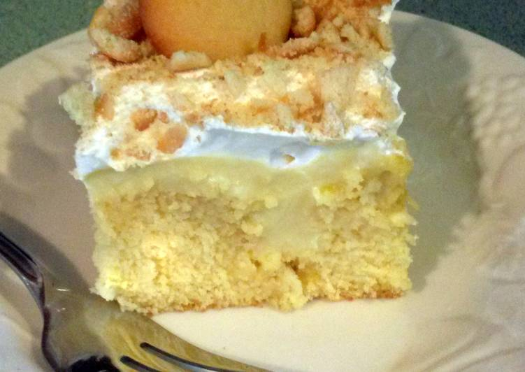 Banana Pudding Poke Cake Recipe By Luv2cook4u32512 Cookpad