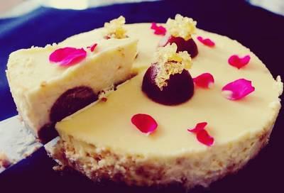 Gulabjamun Cheese Cake