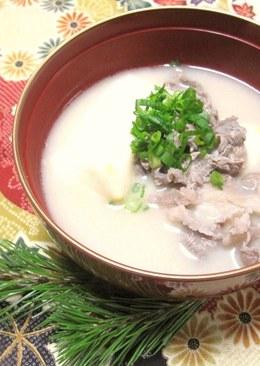 Shiro Miso Ozouni (White Miso Ozouni) Recipe — Dishmaps