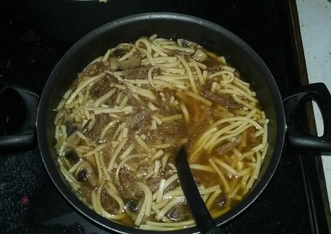 Resep Beef & Noodles