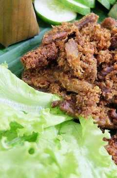 resep masakan indonesian herbs fried beef empal