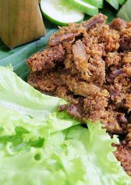 Indonesian Herbs Fried Beef (Empal)