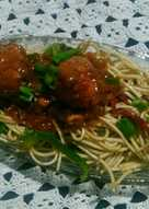 Manchurian with veg noodles..