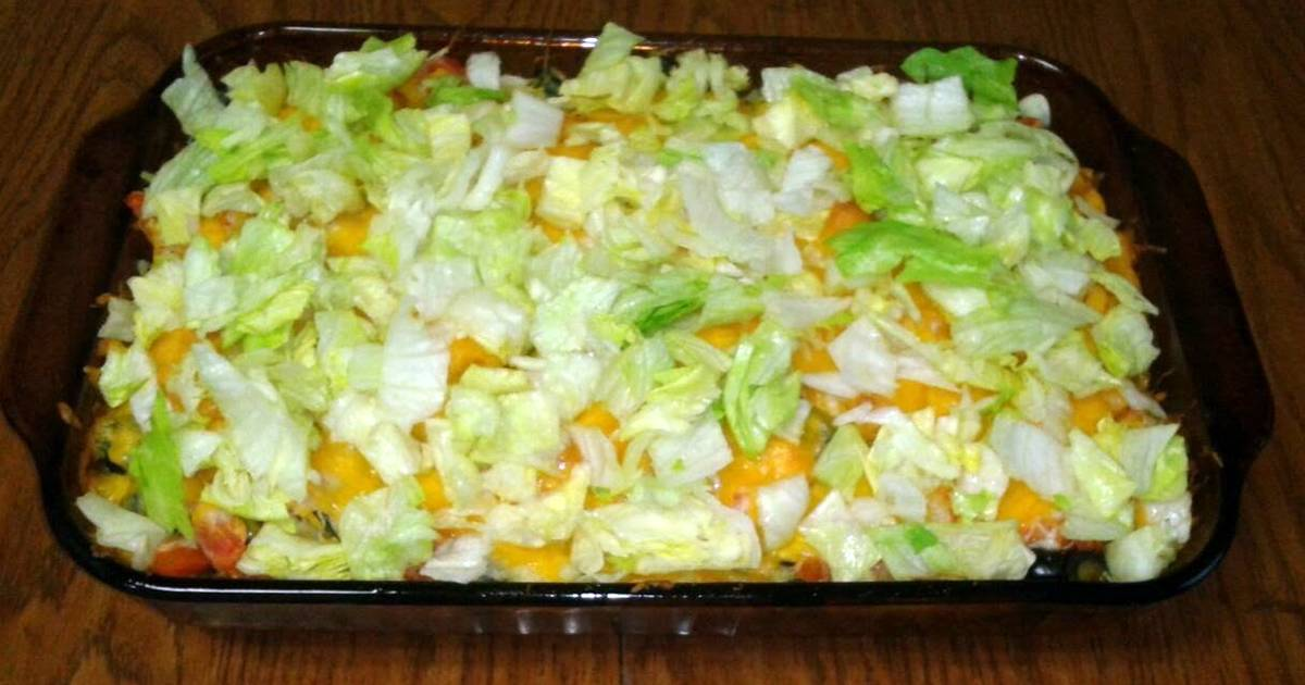 taco casserole Recipe by Sarah M. Holtet