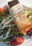 Crispy Salmon salad