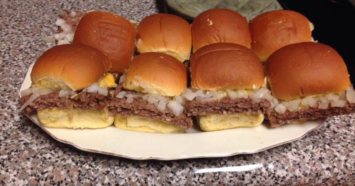 White castle sliders recipe by brad wells cookpad for White castle double fish slider with cheese