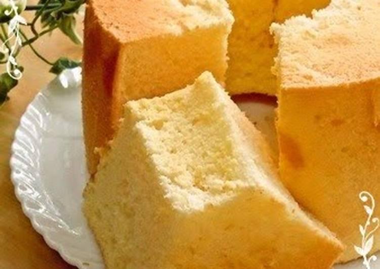 Recipe Light Fluffy Plain Cake: Fluffy Plain Chiffon Cake Recipe By Cookpad.japan
