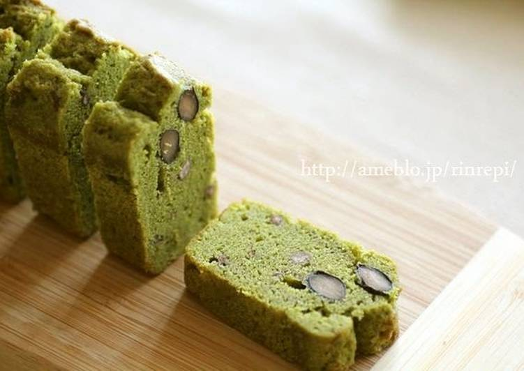 Butter Cake Recipe Japanese: Matcha And Ogura Butter Pound Cake Recipe By Cookpad.japan