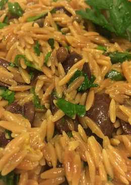 Toasted Orzo Salad With Black Olives And Capers