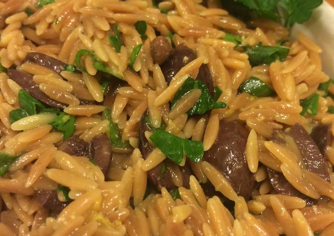 Toasted Orzo Salad With Black Olives And Capers Recipe by ...