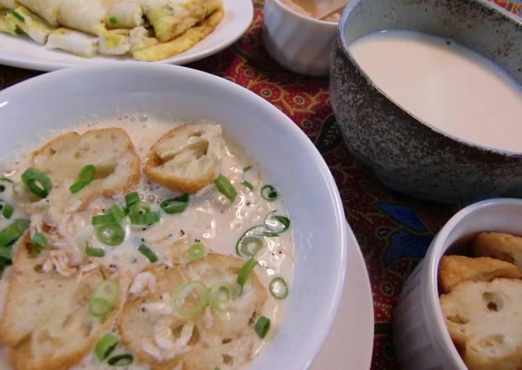 Taiwanese style soy milk soup for breakfast xian dou jiang recipe taiwanese style soy milk soup for breakfast xian dou jiang forumfinder Images