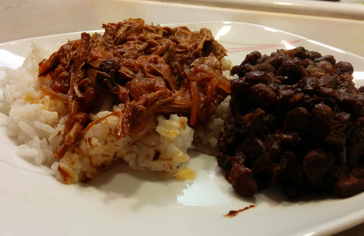 Cuban Ropa Vieja with Black Beans