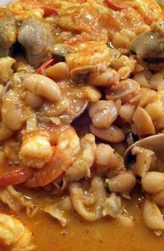 resep masakan portuguese white beans and seafood feijoada de marisco