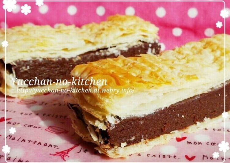 Easy Chocolate Cream Mille Feuille For Valentine S Day Recipe By