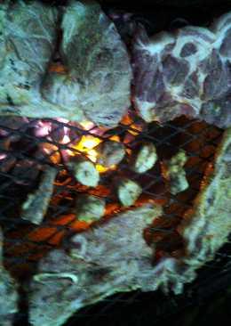 semi-grilled pork steak