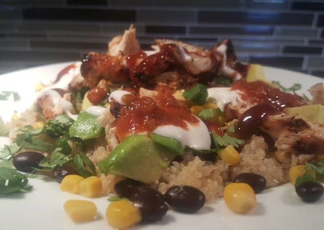 Resep Bbq Chicken Quinoa Salad
