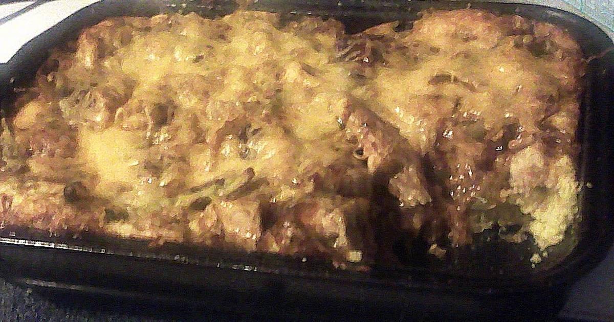 BBQ CHEDDAR CHICKEN CASSEROLE OVER CORNBREAD Recipe by Carrie Ann
